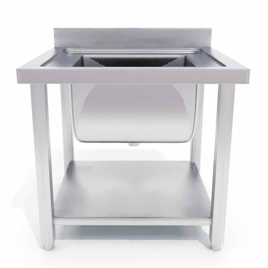 SOGA S/S Work Bench Sink Commercial Restaurant Kitchen Food Prep