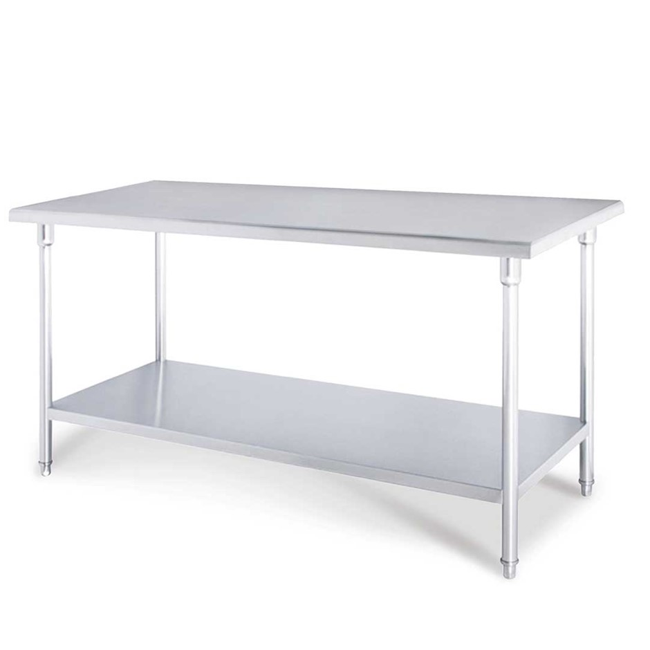 SOGA Commercial Catering Kitchen Stainless Steel Prep Work Bench 80*70*85cm