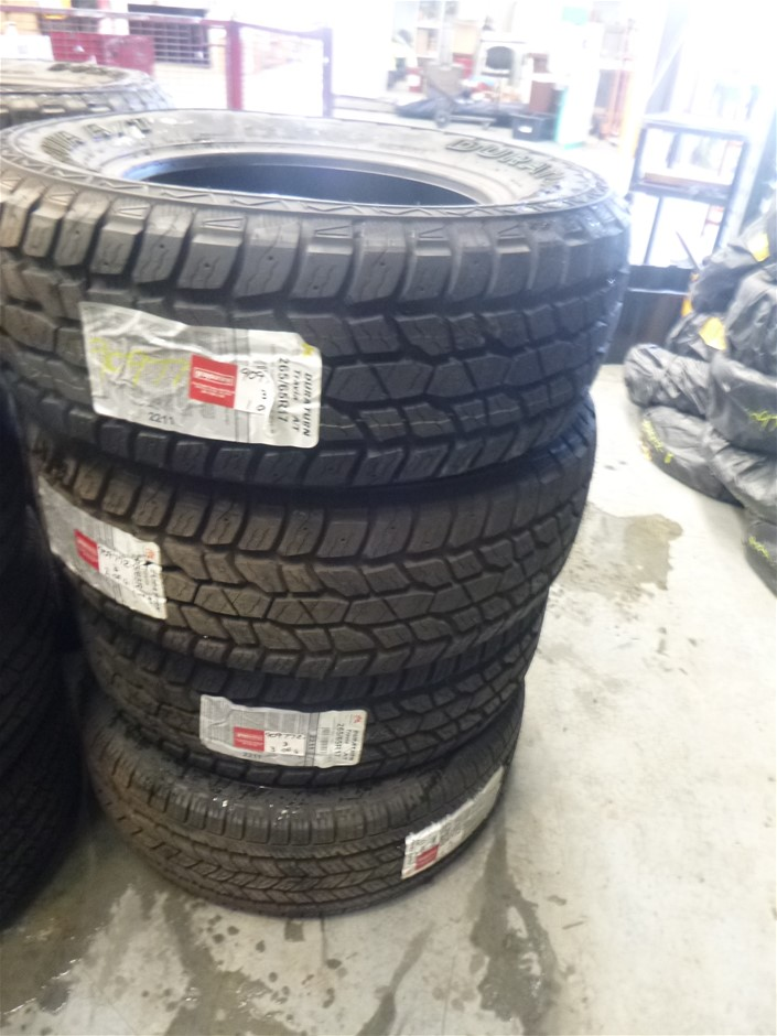 Set of 4 Duraturn Travia A/T 265/65 R17 Tyres