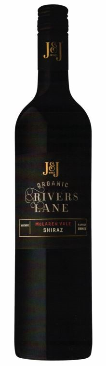 J & J Wines Rivers Lane Shiraz 2016 (6 x 750mL) McLaren Vale, SA