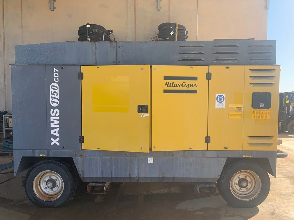 2011 Atlas Copco XAMS1150 CD7 Diesel Towable Air Compressor (Karratha)