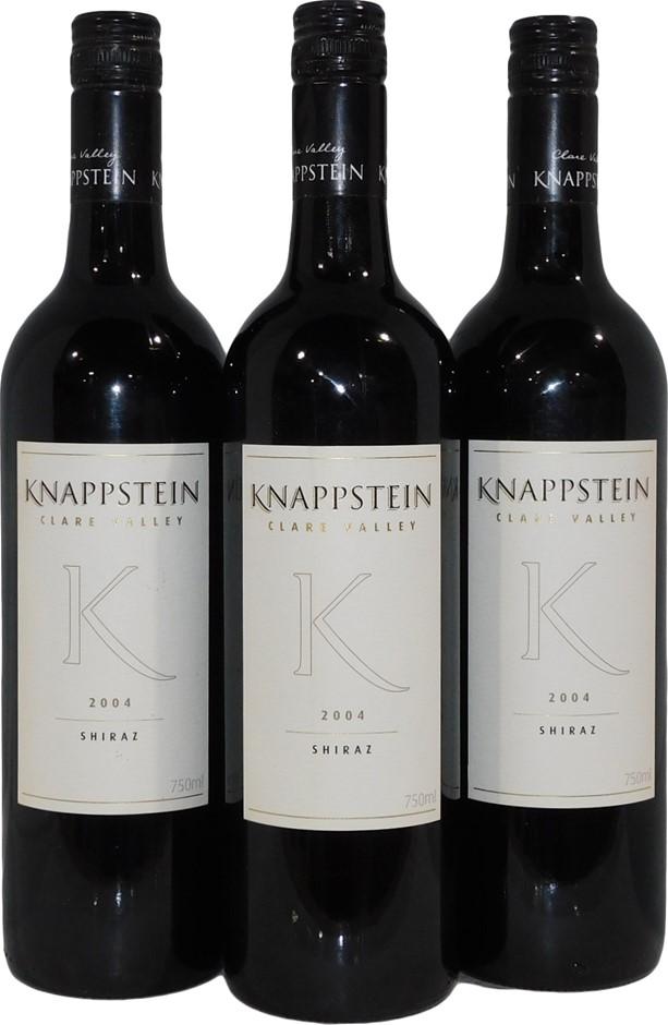 Knappstein K Clare Valley Shiraz 2004 (3x 750mL), SA. Screwcap