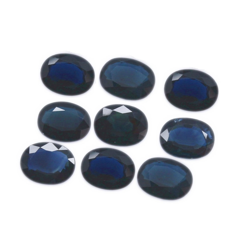 Nine Loose Blue Sapphire, 14.05ct in Total