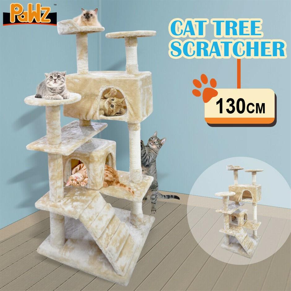 PaWz Pet Cat Tree Scratching Post Scratcher Trees Pole Gym Condo Wood