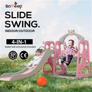 BoPeep Kids Slide Swing Basketball Ring