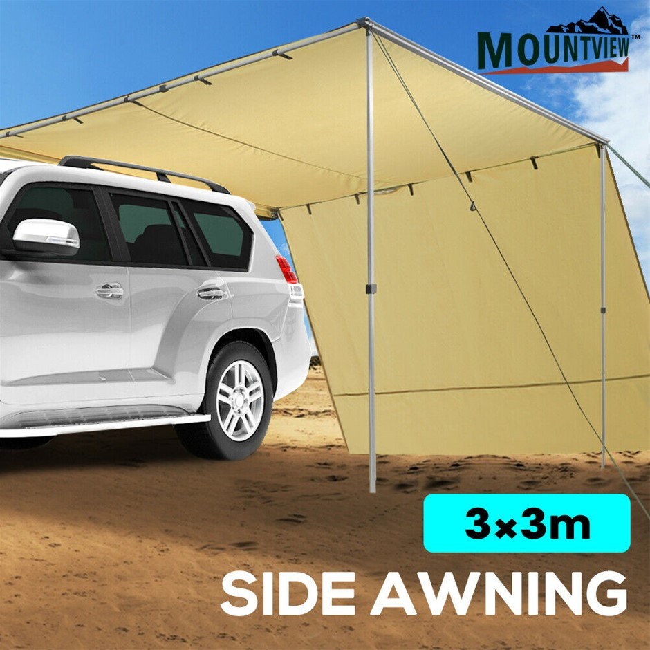 Mountview 3x3M Car Side Awning Extension Roof Rack Covers Tents Shades