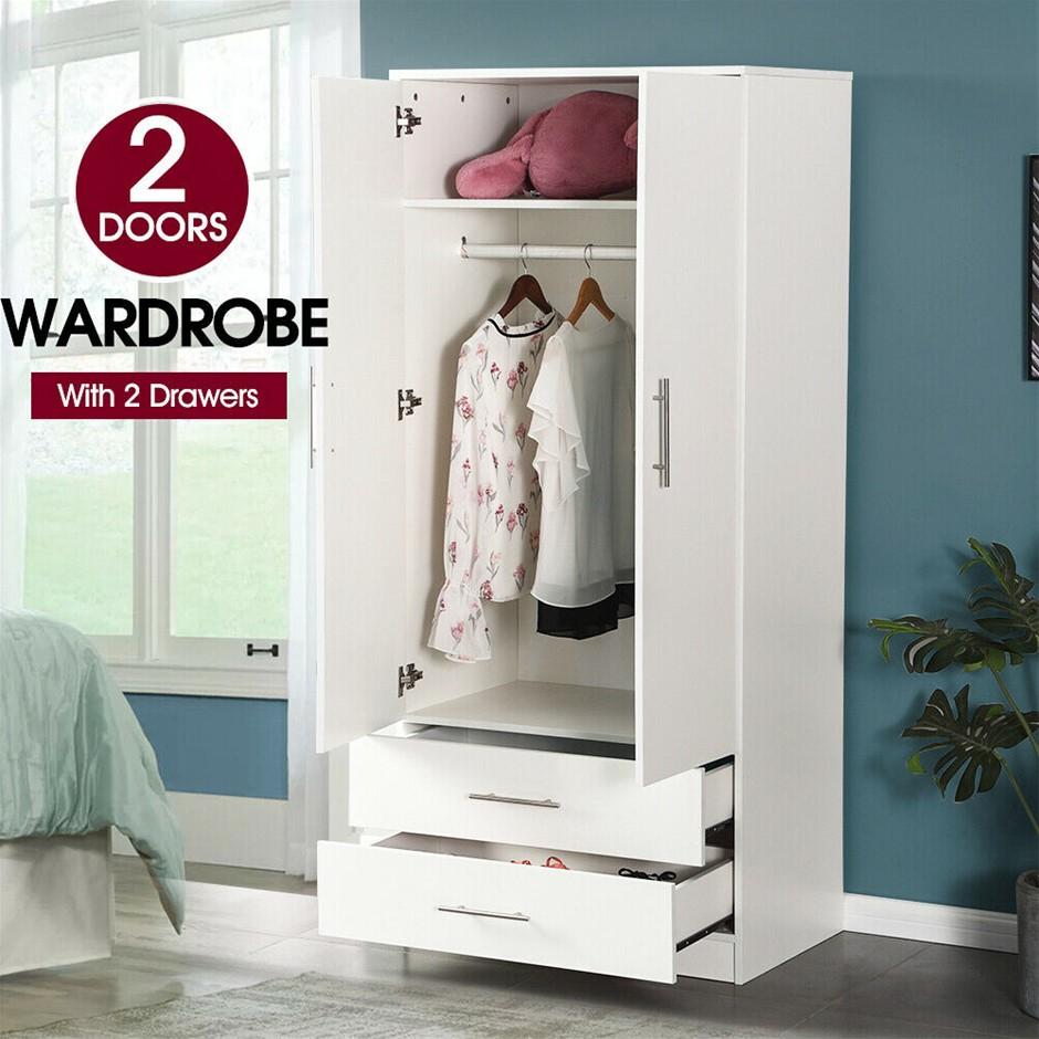 Home Kitchen Bedroom Cupboard Organizer Wooden Unit Wardrobe