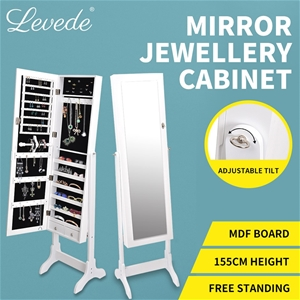 Levede Free Standing Mirrored Jewellery