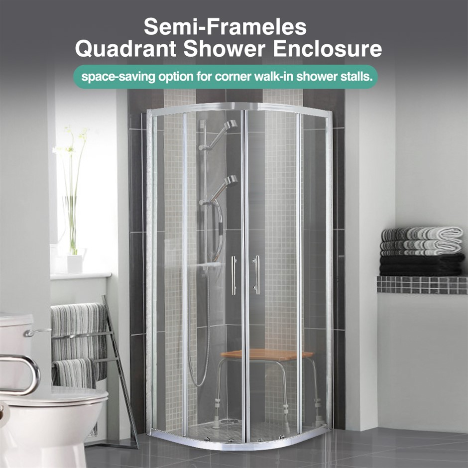 Levede Shower Screen Screens Door Seal Enclosure Glass Panel 900x900x1900mm