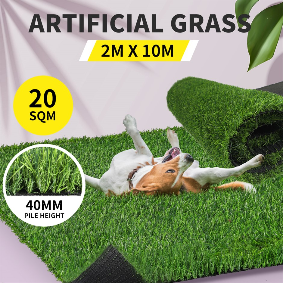 40MM Artificial Grass Synthetic 20SQM Pegs Turf Plastic Fake Lawn Pins