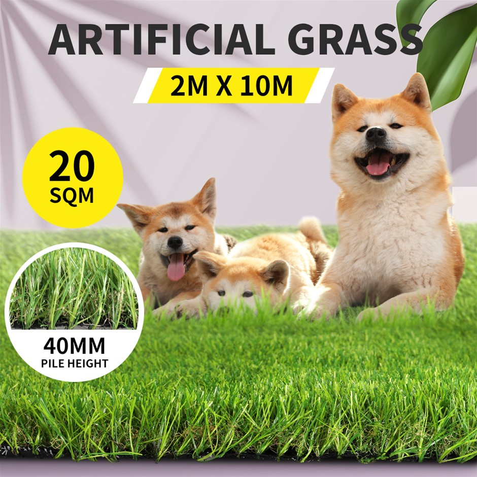 40MM Artificial Grass Synthetic 10SQM Pegs Turf Plastic Fake Lawn Pins