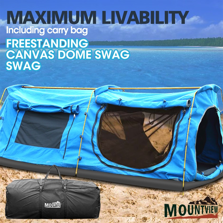 Mountviewe Dome Swag Swags Mattress Canvas Tent Kings Hiking Daddy Bags