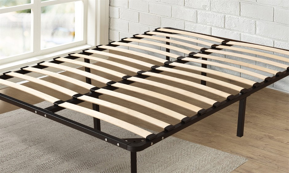 Levede Metal Bed Frame Mattress Base with Timber Slats Air BnB Single Size