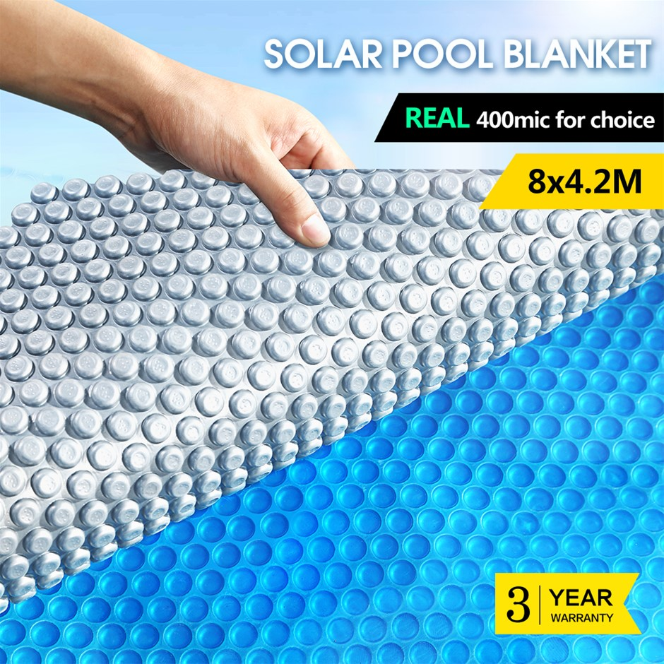 8x4.2M Real 400 Micron Solar Swimming Pool Cover Outdoor Blanket Isothermal