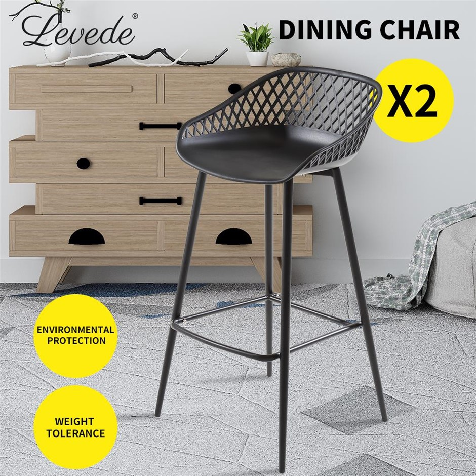 Levede Bar Stool Dining Chairs Metal Kitchen Stool Barstools Outdoor x2