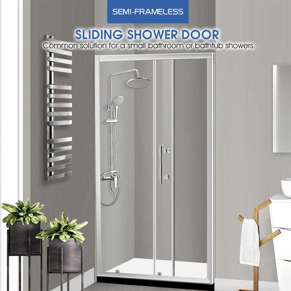 Levede Bath Shower Enclosure Screen Seal Strip Glass Shower Door 900x1900mm