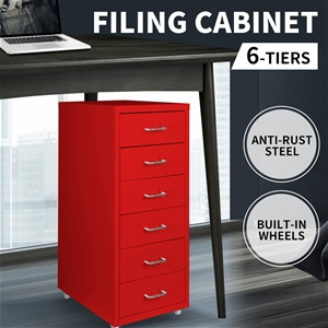 Steel Orgainer Metal File Cabinet With 6