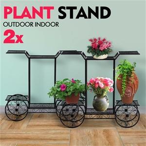 2x Plant Stand Outdoor Indoor Pot Garden