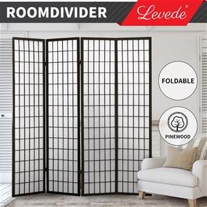 Levede Room Divider Screen 4 Panel Priva