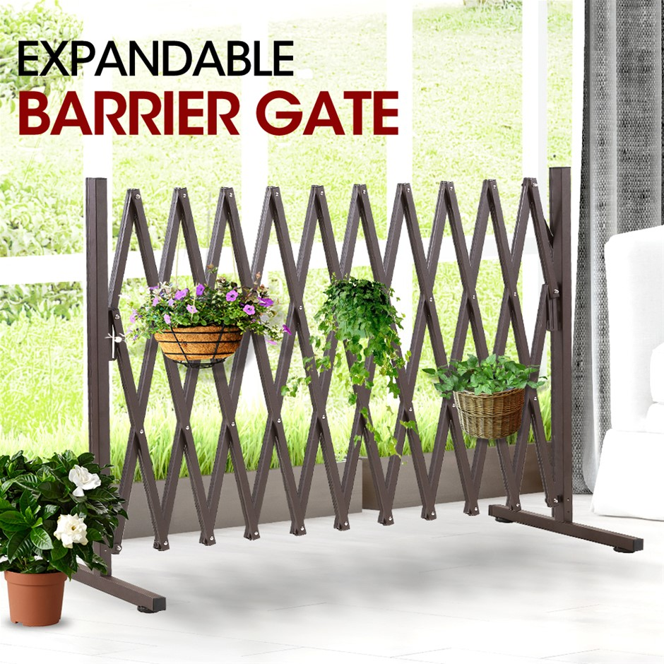 Expandable Metal Steel Safety Gate Trellis Fence Barrier Traffic