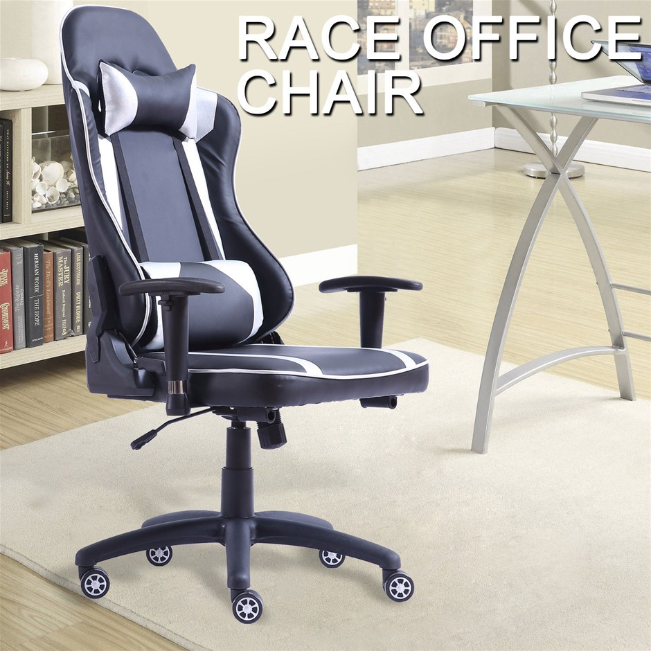 Levede Executive Gaming Office Chair Racing Computer PU Leather Recliner