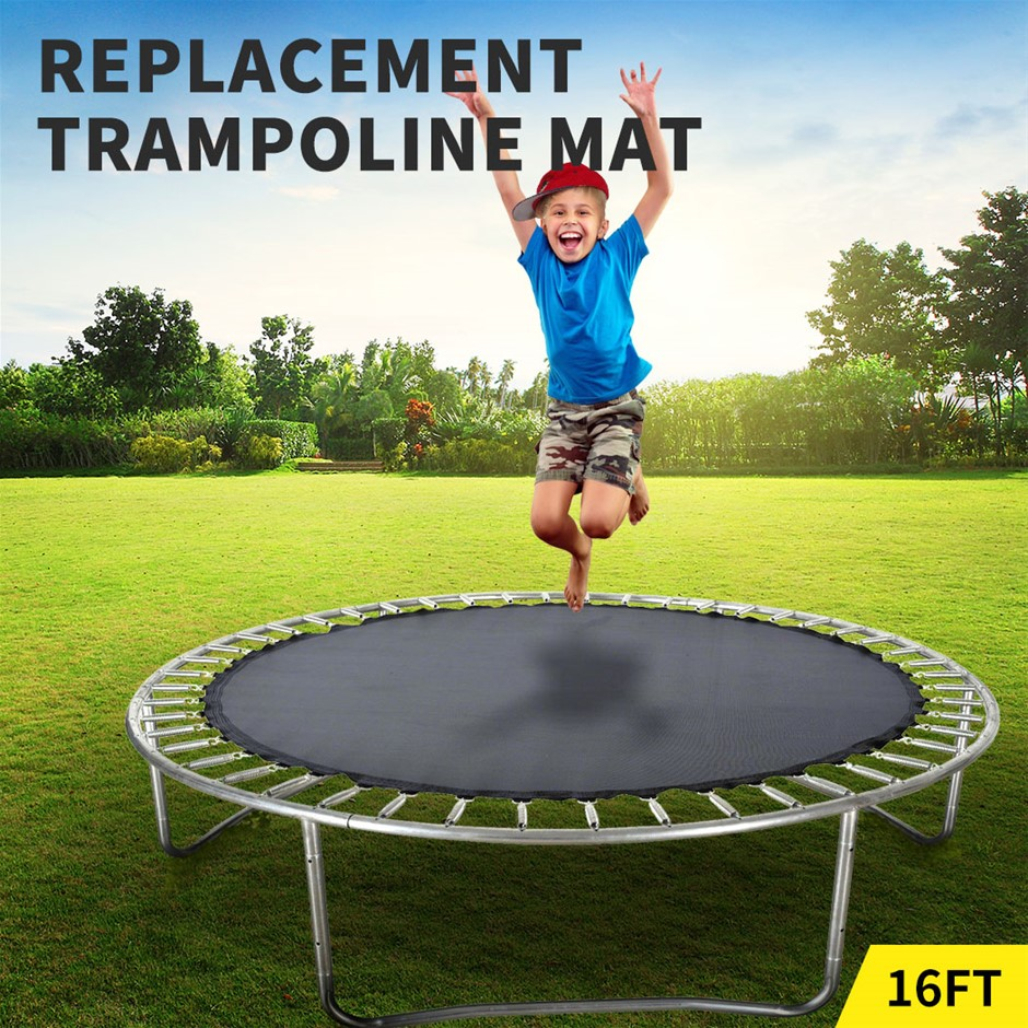 16 FT Kids Trampoline Pad Replacement Mat Reinforced Outdoor Round