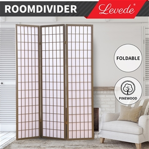 Levede Room Divider Screen 3 Panel Priva
