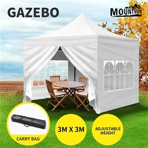 Mountview Gazebo Pop Up Marquee 3x3m Ten