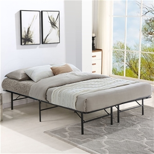 Levede Foldable Metal Bed Frame Mattress