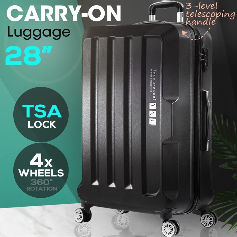 "28"" Check In Luggage Hard side Lightweight Travel Cabin Suitcase TSA Lock"