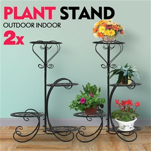 2x Levede Flower Shape Metal Plant Stand
