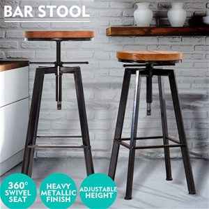 Levede Industrial Bar Stools Kitchen Sto