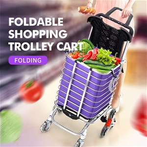 Foldable Shopping Cart Trolley Stainless