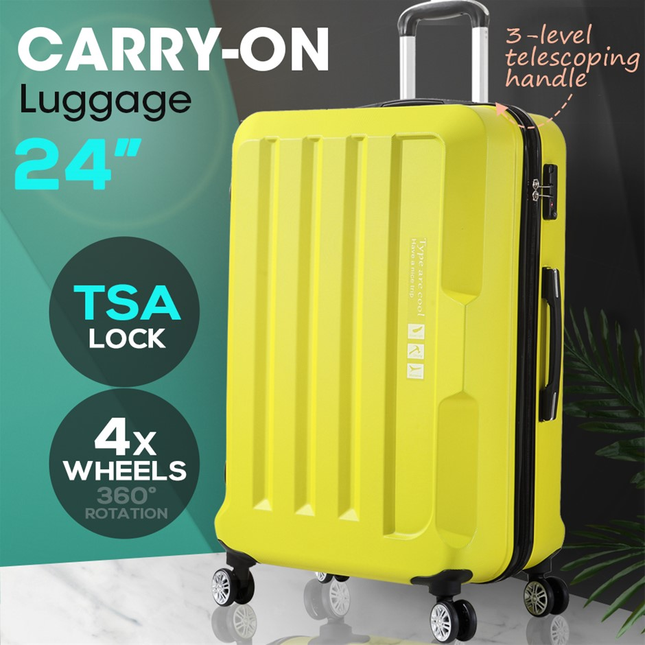 Luggage TSA Hard Case Suitcase Travel Lightweight Trolley Carry on Bag