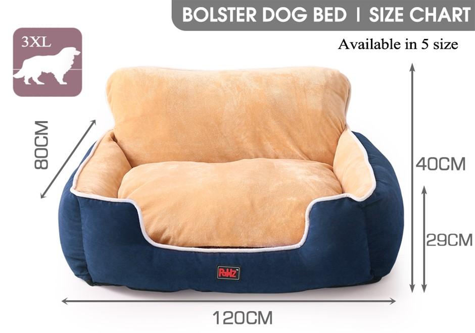 PaWz Pet Bed Dog Beds Cushion Pad Pads Soft Plush Cat Pillow Mat Blue 3XL