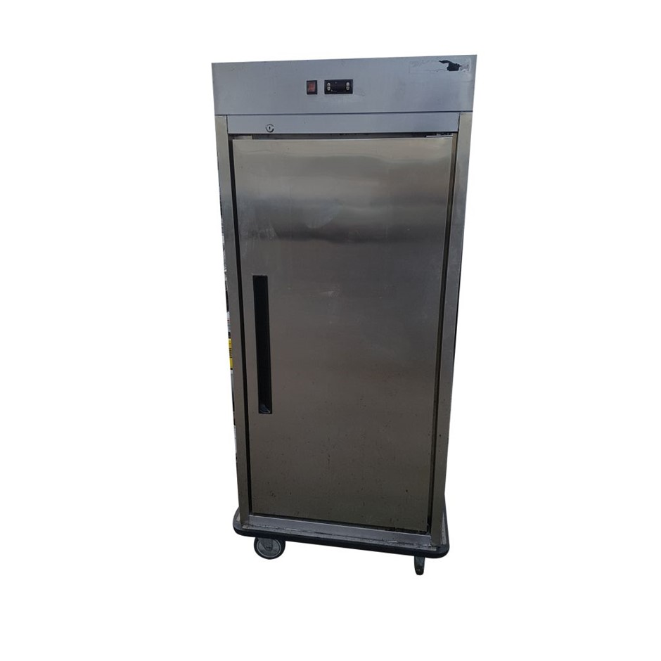 FOOD WARMER UPRIGHT ON CASTORS STAINLESS STEEL CONSTRUCTION L