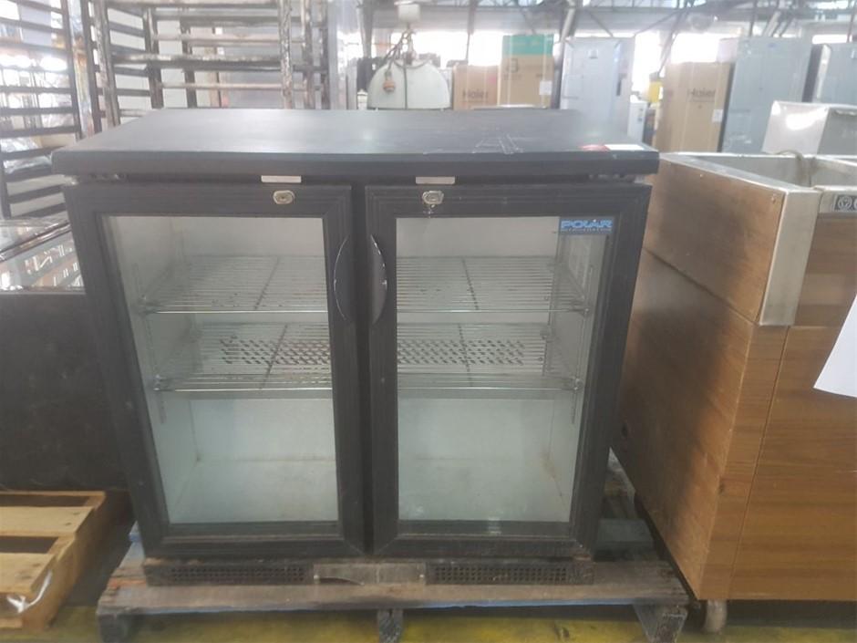 POLAR GLASS 2 DOOR DISPLAY FRIDGE BAR FRIDGE UNDERBAR OR ABOVE COUNTER