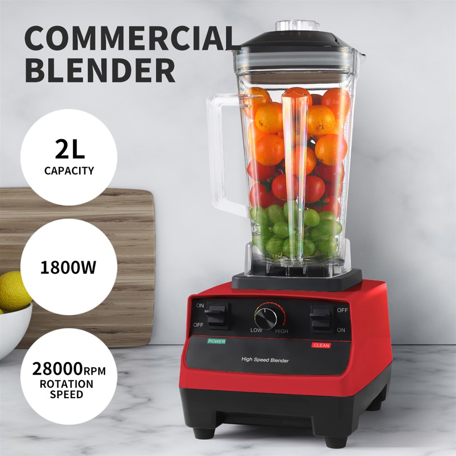 2L Commercial Blender Mixer Food Processor Juicer Smoothie Ice Crush Maker