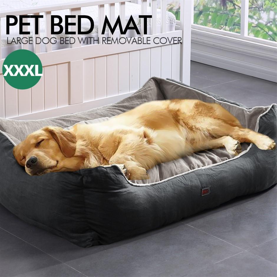 PaWz Pet Bed Mattress Dog Cat Pad Mat Cushion Soft Warm Washable 3XL Grey