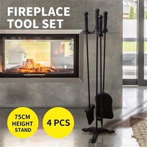 4 Pieces Fireplace Tool Set Poker Poke B