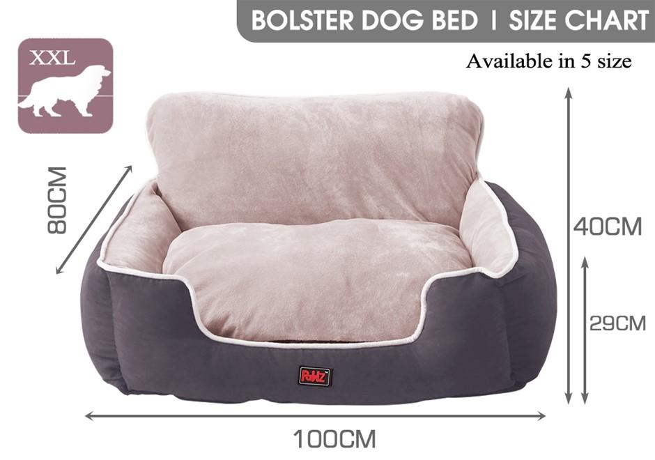 PaWz Pet Bed Dog Beds Cushion Pad Pads Soft Plush Cat Pillow Mat Grey XXL