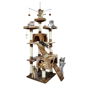 PaWz 2.1M Cat Scratching Post Tree Gym H