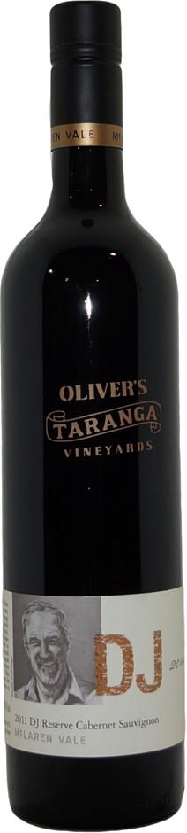 Olivers Taranga DJ Reserve Cabernet Sauvignon 2011 (1x 750mL), SA, Screwcap