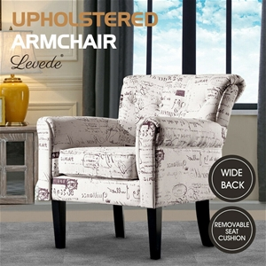 Levede Luxury Upholstered Armchair Dinin