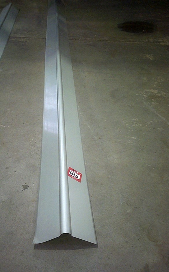 6 metre length of Roll Top Ridge Capping in Zinc.