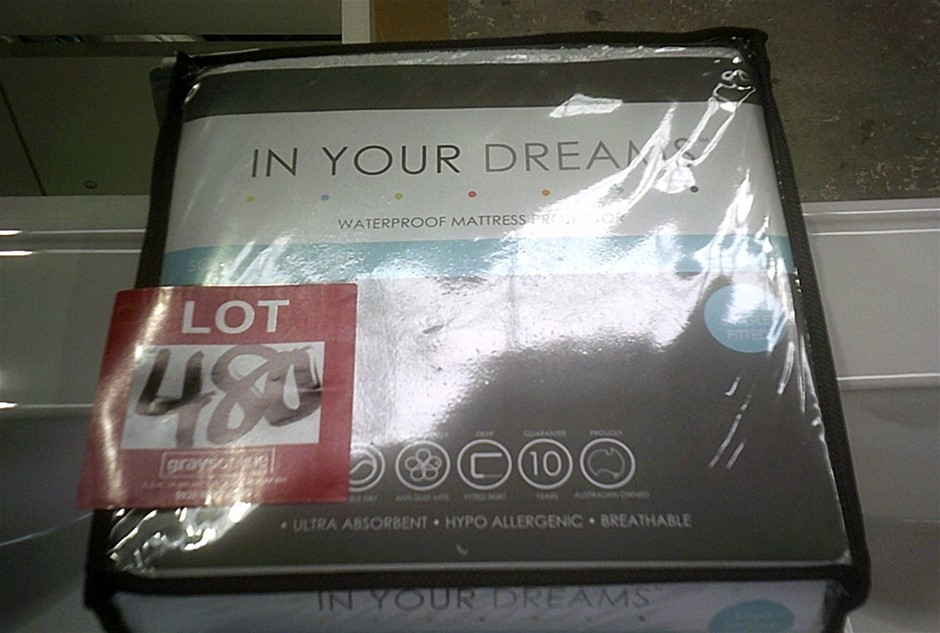 In Your Dreams Soft Cotton Terry King Single Size Waterprrof Mattress Prote