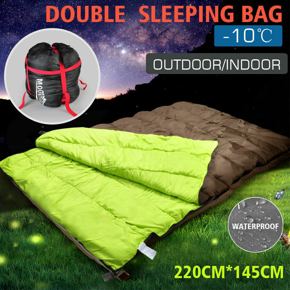 Mountview Sleeping Bag Double Bags Outdoor Hiking Thermal -10? Tent Sack
