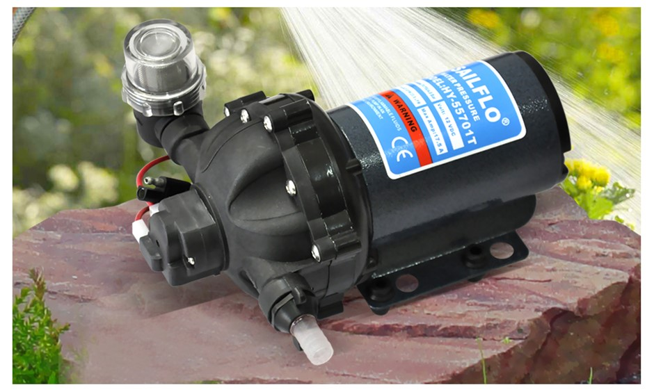 12V 20Lpm High Pressure Self Priming Water Pump Caravan Tool Farm Boat