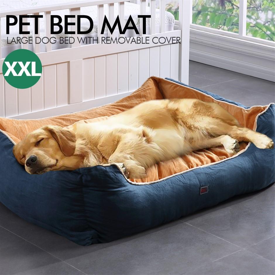 PaWz Pet Bed Mattress Dog Cat Pad Mat Cushion Soft Warm Washable 2XL Blue