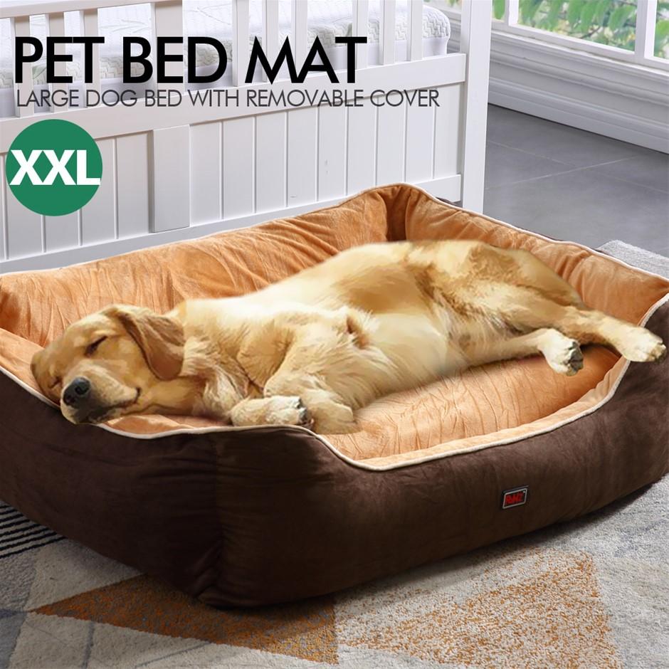 PaWz Pet Bed Mattress Dog Cat Pad Mat Cushion Soft Warm Washable 2XL Brown